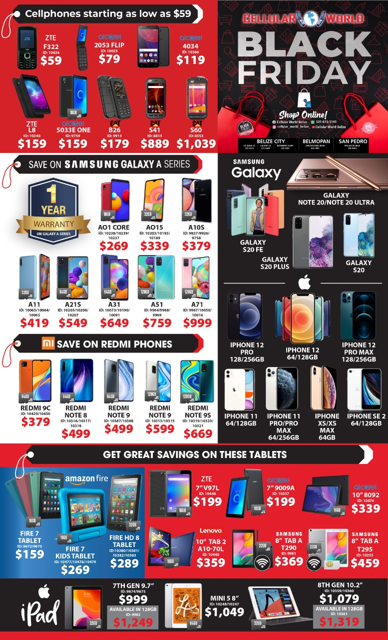 Cellular World Black Friday deals