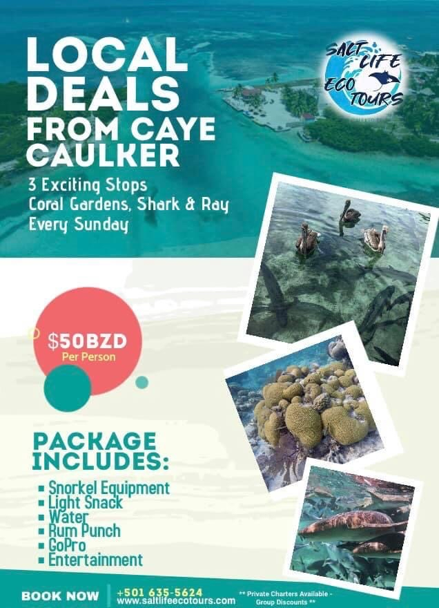 Sunday tours from Caye Caulker with 3 exciting stops