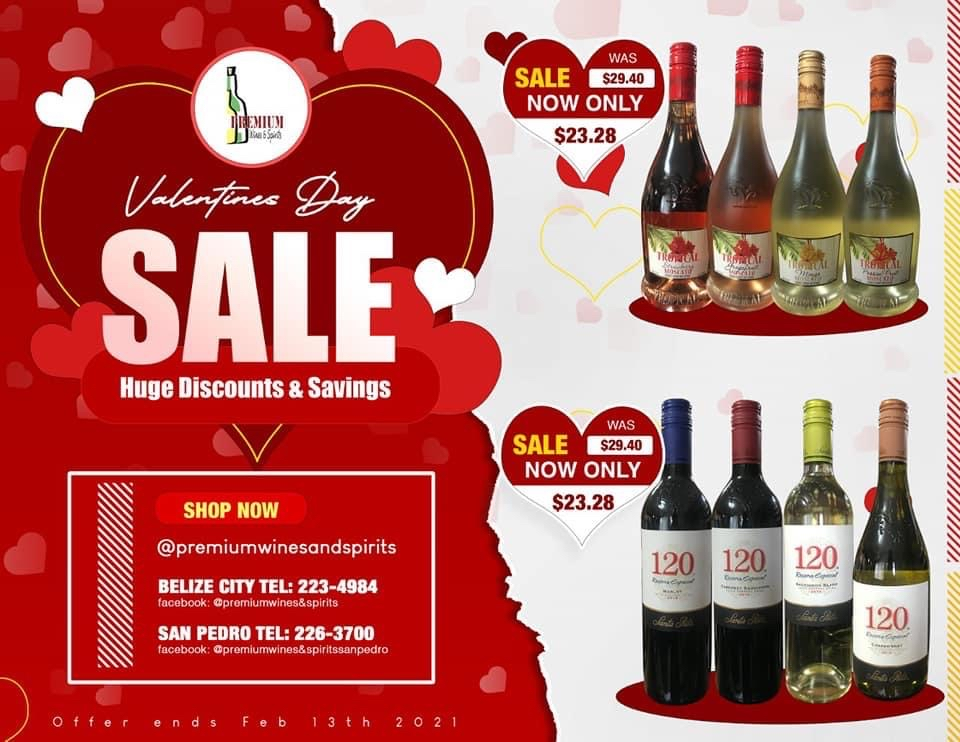 Premium Wines and Spirits offering huge Valentines Discounts