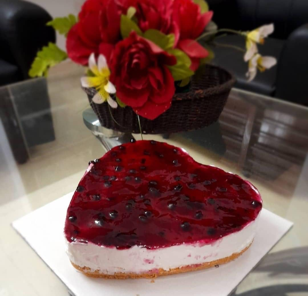 Heart-shaped Cheesecake For My Beautiful Valentine.
