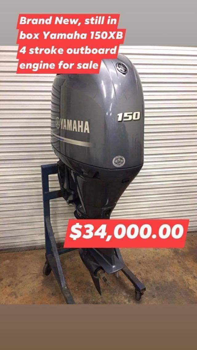 Yamaha 150XB outboard engine - Brand new