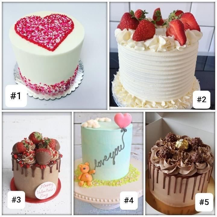 Valentine's Cake Sale: pre-order by Feb 10th