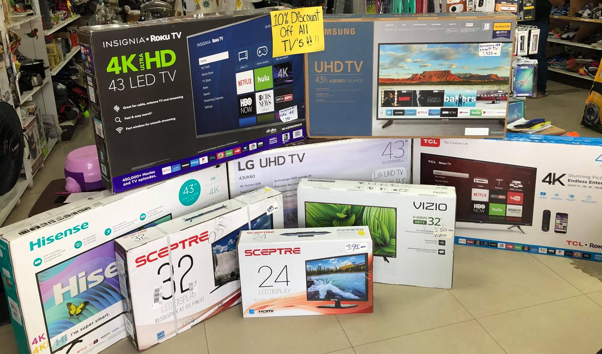10% off on New TVs just arrived