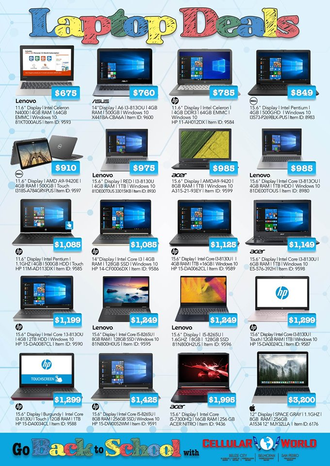 Laptop deals for Back-to-School
