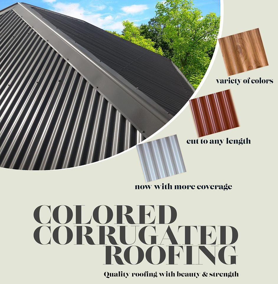 Colored corrugated roofing - best price for high quality roofing
