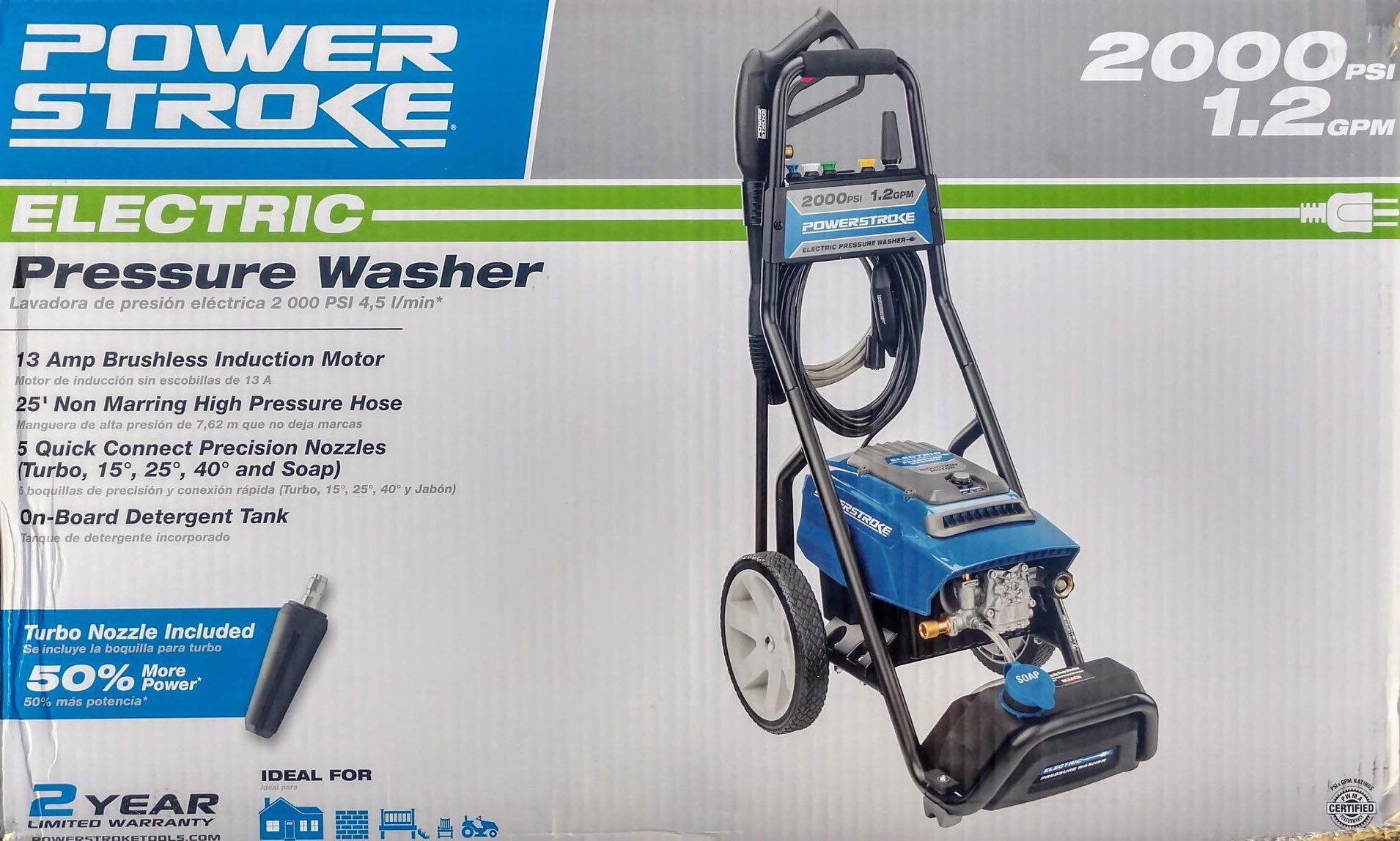 New electric Powerstroke pressure washer - 2000 PSI