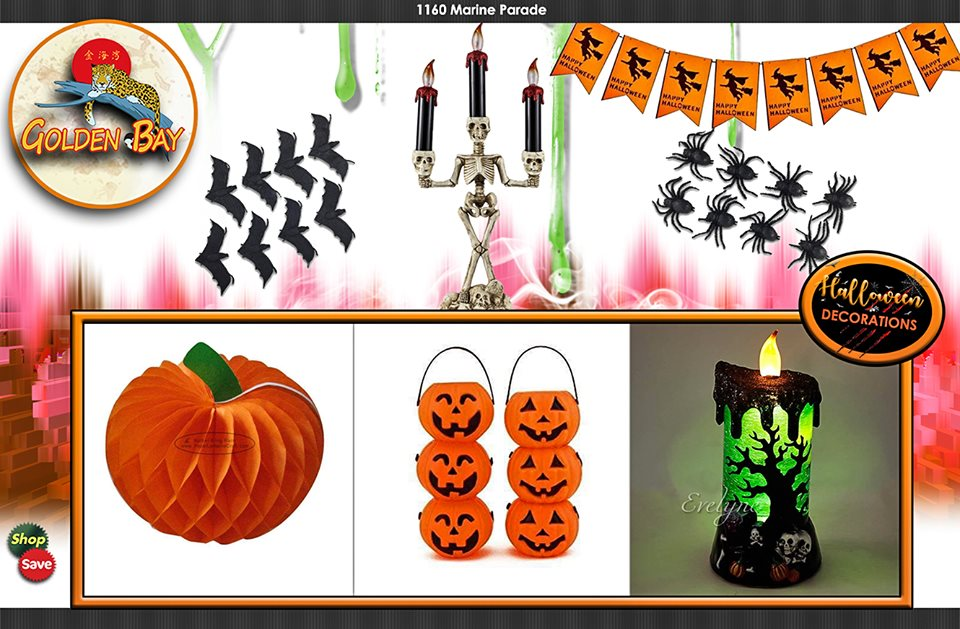 Wide selection of Halloween Decorations at Golden Bay Co