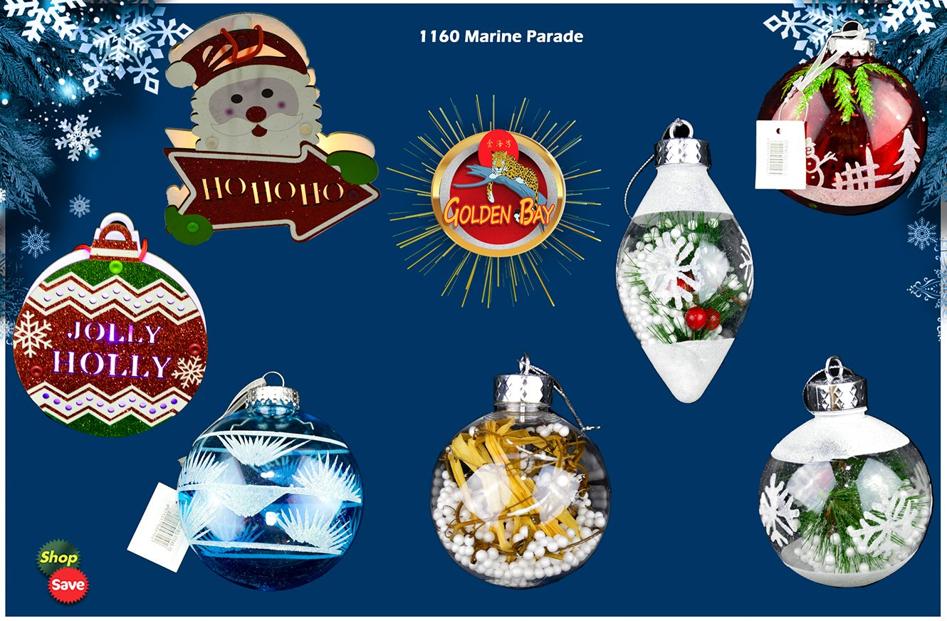 NOW Available: Christmas ornaments at Golden Bay!