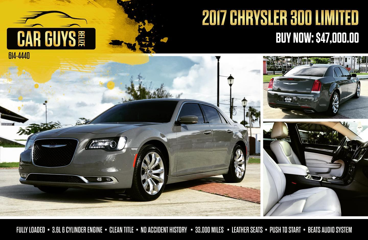 Mint condition! 2017 Chrysler 300 Limited